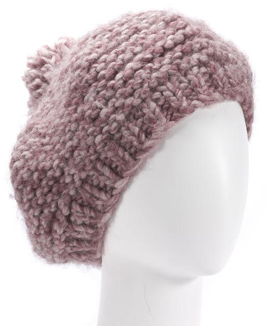 ULLA JOHNSON Pink Beret Knit Hat One Size