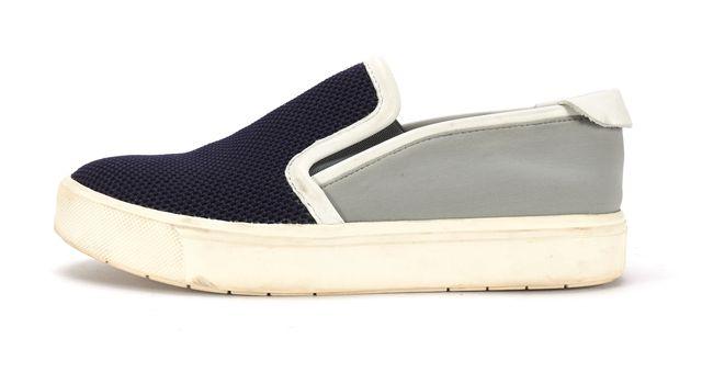 VINCE Navy Blue Grey Mesh Slip-on Sneakers