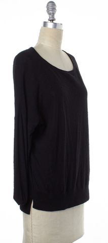 VINCE Black Cotton Knit Long Dolman Sleeves Casual Top