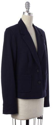 VINCE Navy Blue Wool Jersey Two Button Blazer