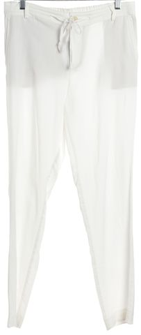 VINCE White Casual High Waisted Drawstring Pants