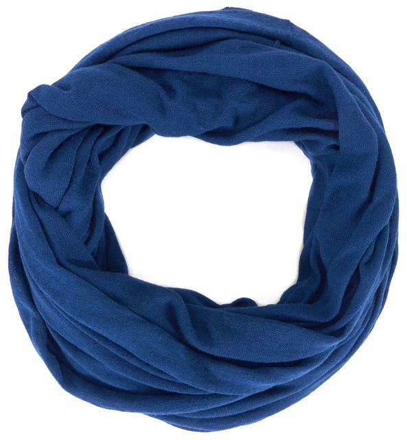VINCE Blue Cotton Knit Infinity Scarf
