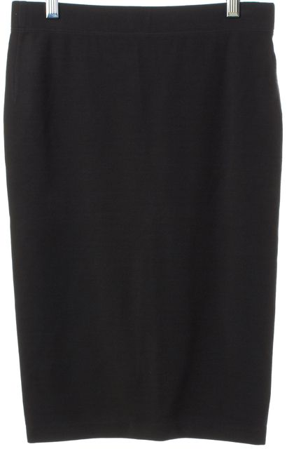 VINCE Gray Knee Length Stretch Knit Skirt