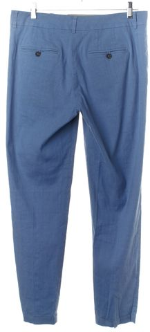 VINCE Blue Linen Casual Pants