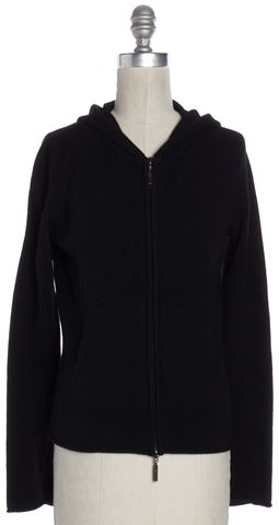 VINCE Black Cashmere Hooded Sweater Jacket Size M