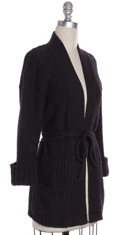 VINCE Brown Alpaca Knit Cardigan Sweater Size XS