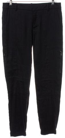 VINCE Black Linen Casual Pants