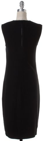 VINCE Black Sleeveless Sheath Dress