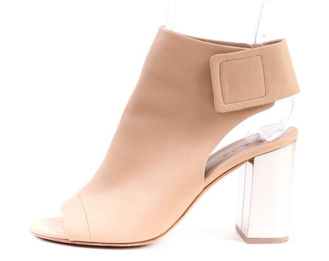 VINCE Beige Leather Block Heels Open Toe