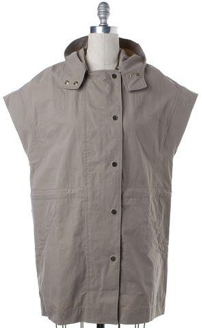 VINCE Beige Cap Sleeve Jacket