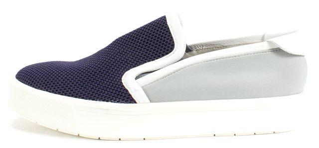 VINCE Navy Blue Gray Neoprene Tweed Slip-On Sneakers