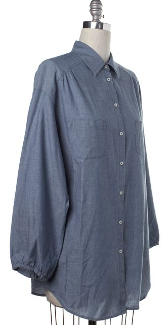 VINCE Blue Chambray Western Button Down Shirt