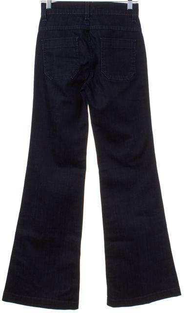 VINCE Blue Dark Wash Fonda Trouser Nelly Bell Bottoms Jeans