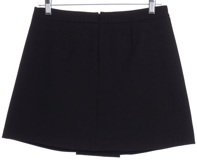 VINCE Black Pleated Mini Skirt