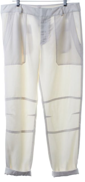 VINCE Ivory High Waist Casual Pants