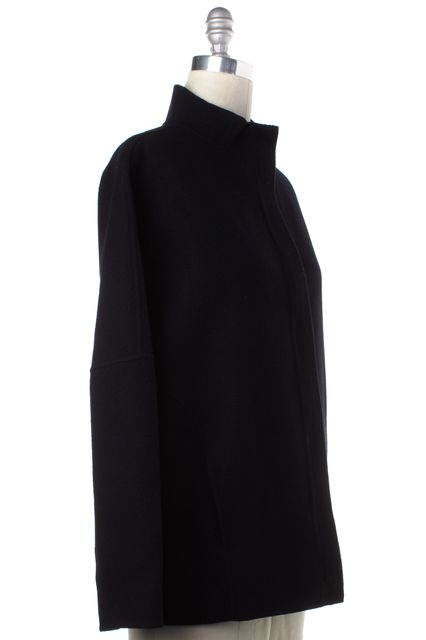VINCE Navy Blue Wool Basic Jacket Coat