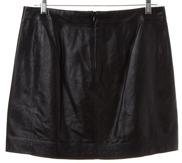 VINCE Black Leather Pleated Mini Skirt Size 4 | eBay
