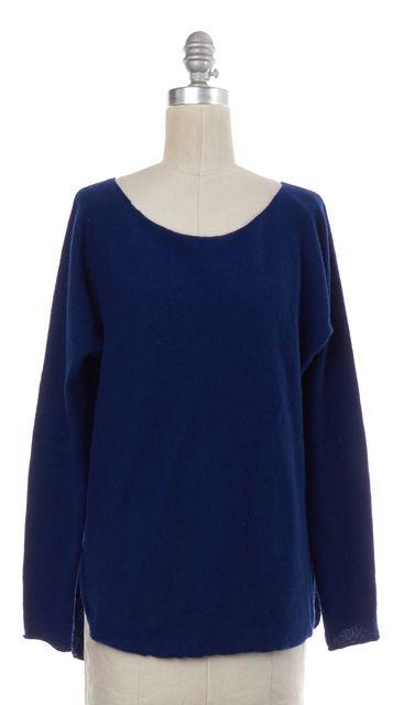 VINCE Cobalt Blue Wool Knit Boat Neck Sweater