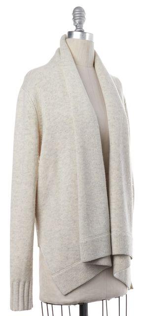 VINCE Beige Knit Open Cardigan