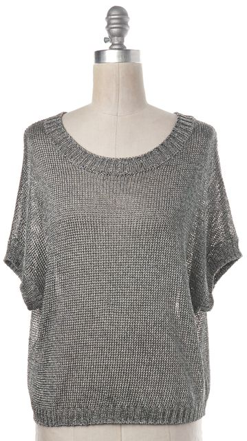 VINCE Silver Knit Top