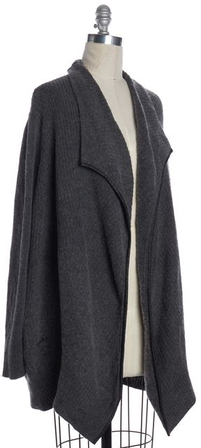 VINCE Gray Wool Cashmere Knit Sweater Jacket