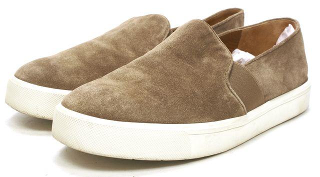 VINCE Beige Suede Casual Slip-On Platform Sneakers