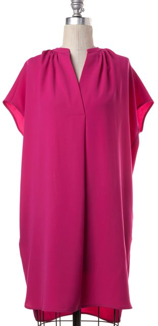 VINCE Fuchsia Pink Relaxed Fit Tunic Dress