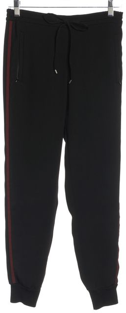 VINCE #V2873-21047 Black Casual Red White Stripped Pants