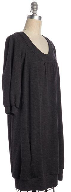 VINCE Gray Wool Jersey Bubble Hem Dress