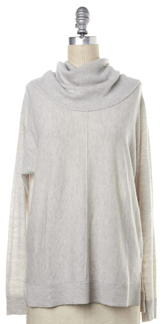 VINCE Ivory Wool Cashmere Blend Cowl Neck Sweater