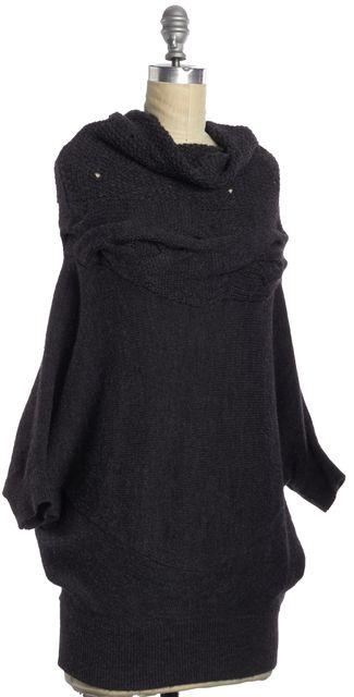 VINCE Gray Wool Turtleneck Cowl Neck Oversized Knit Sweater