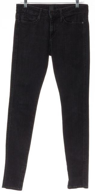 VINCE Black Stonewash Stretch Cotton Denim Skinny Jeans