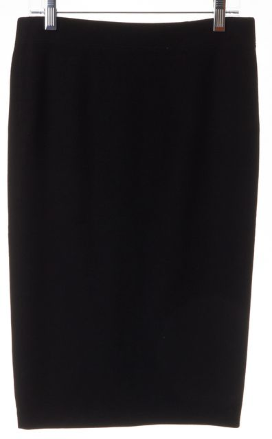 VINCE Black Pleated Back Knee-Length Pencil Skirt