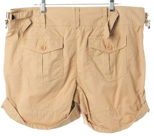 VINCE Beige Khaki Rolled Hem Side Buckles Casual Shorts