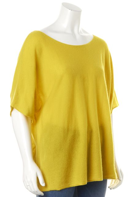 VINCE Yellow Knit Top Short Sleeve