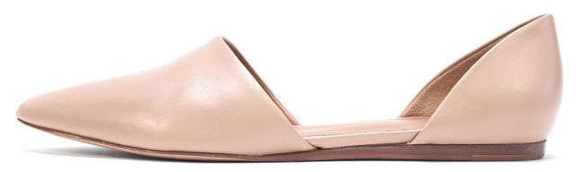 VINCE Beige Leather D'Orsay Flats