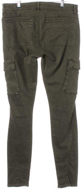 VINCE Green Olive Cargo Pocket Skinny Leg Pants Jeans