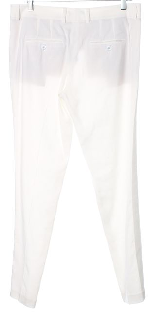 VINCE White Linen Skinny Slim Leg Casual Summer Pants