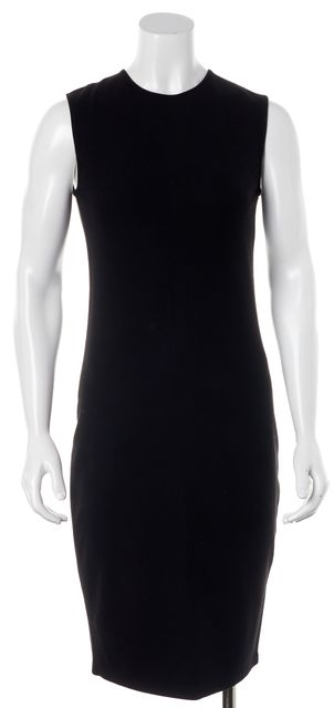 VINCE Black Knit Sleeveless Knee-Length Sheath Dress