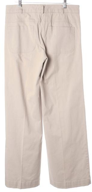 VINCE Beige Stretch Cotton Pleated Trouser Dress Pants