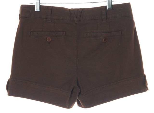 VINCE Brown Cotton Pleated Chino Casual Summer Shorts