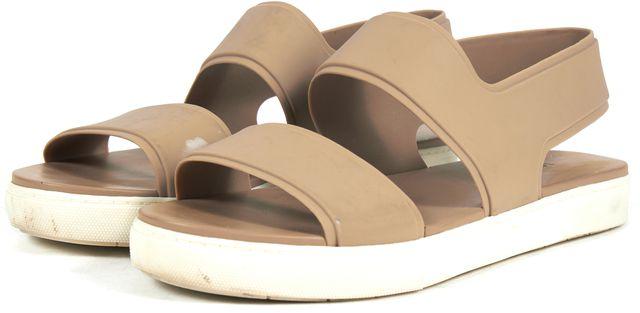 VINCE Beige Rubber Summer Sandals