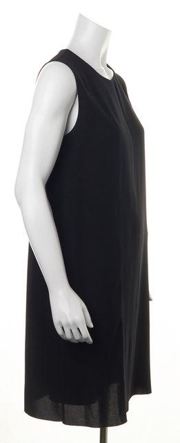 VINCE Black Hidden White Center Front Contrast Panel Sleeveless Shift Dress