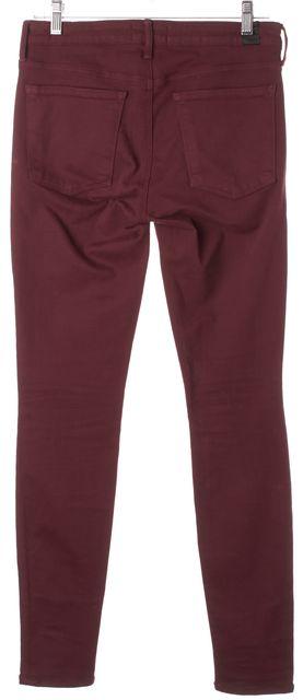 VINCE Bordeaux Red Stretch Cotton Riley Legging Skinny Jeans
