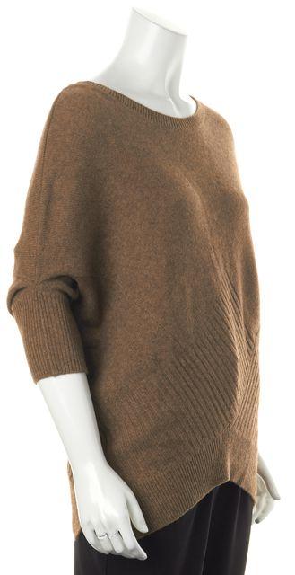VINCE Brown Scoop Neck Sweater