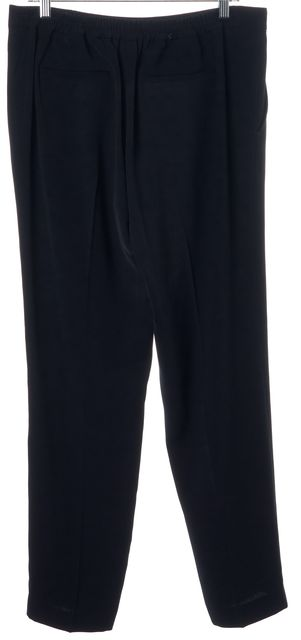 VINCE Navy Blue Casual Stretch 100% Polyester Pants