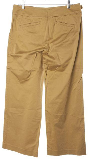 VINCE Beige Stretch Cotton Wide Leg Trouser Dress Pants
