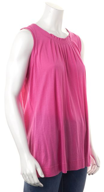 VINCE Pink Pleated Sleeveless Summer Blouse Top