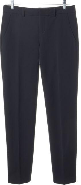 VINCE Gray Stretch Cotton Ponte Trousers Pants