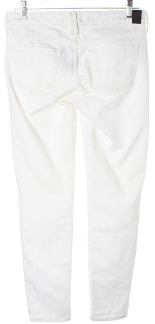 VINCE White Stretch Cotton Denim Ankle Skinny Jeans